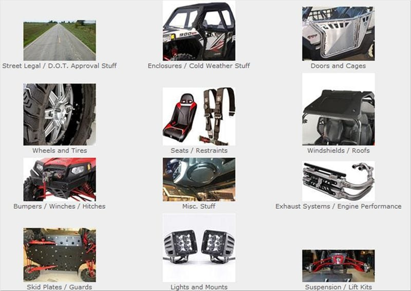Polaris RZR parts at SideBySideStuff com||Car Division