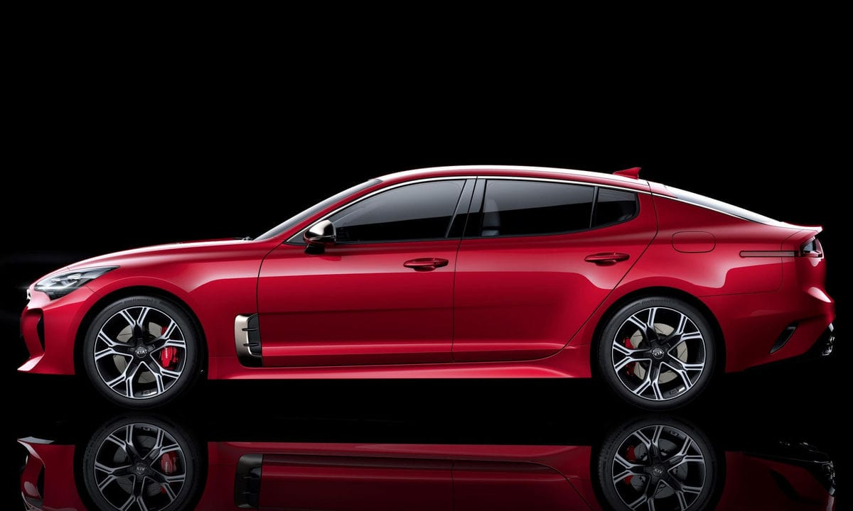 the new kia stinger sedan will be sold on the european market kia car pictures. Black Bedroom Furniture Sets. Home Design Ideas
