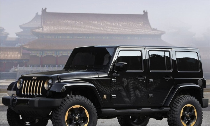 2012 Jeep Wrangler Dragon Concept at the 2012 Beijing International Automotive Exhibition