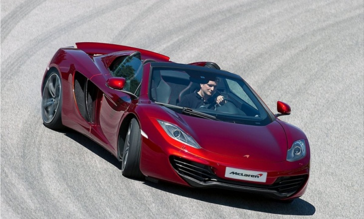 McLaren MP4-12C Spider high performance sports car