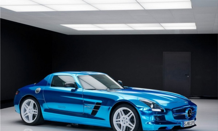 Mercedes SLS AMG Coupe Electric Drive emission-free super sports car