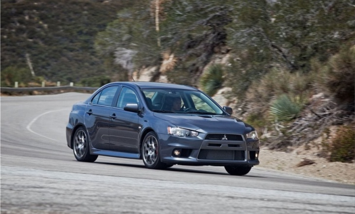 Mitsubishi Lancer Evolution MR high-performance sports sedan