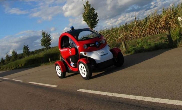 Renault Twizy for the Paris firefighter brigade
