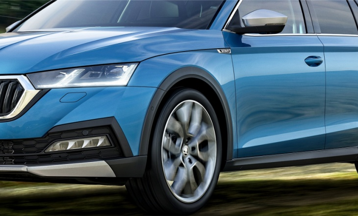 The new generation Skoda Octavia Scout with front-wheel drive