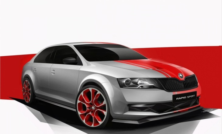2013 Skoda Rapid Sport Concept - dynamism and sportiness