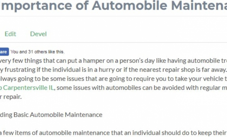 The Importance of Automobile Maintenance